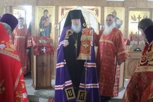 Епископ Городецкий и Ветлужский Августин совершил Божественную литургию в храме ФКУ ИК-1 поселка Сухобезводное